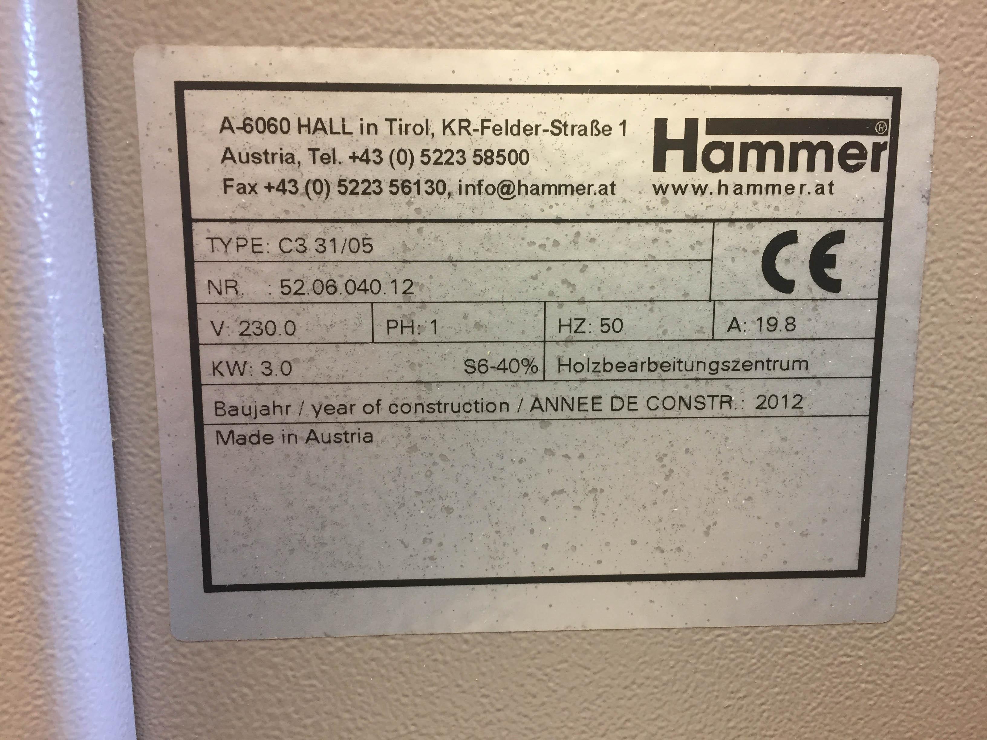 Hammer C3-31 Combi machine  - Woodwork UK